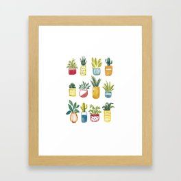 Sixteen Pot Plants Framed Art Print