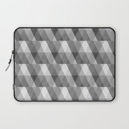 Grey Geometric Distressed Pattern Laptop Sleeve