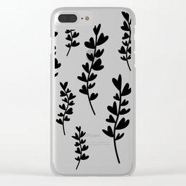 Plant doodles heart Clear iPhone Case