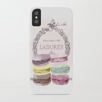 macaroon iPhone & iPod Cases featuring French Macaroon, Kitchen Art, Pastel by PeachAndGold