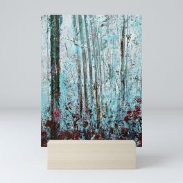 Autumn Smoke - Misty Autumn Forest Scene Mini Art Print