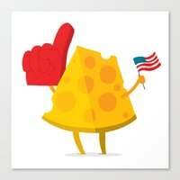 cheese Canvas Prints featuring cheese by alex eben meyer