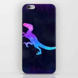 VELOCIRAPTOR IN SPACE // Dinosaur Graphic Art // Watercolor Canvas Painting // Modern Minimal Cute iPhone Skin