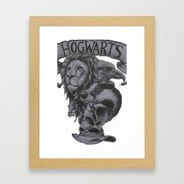Hogwarts Houses Framed Art Print