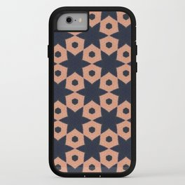 corail and black fabric iPhone Case