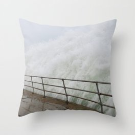 The Violence is Here Throw Pillow