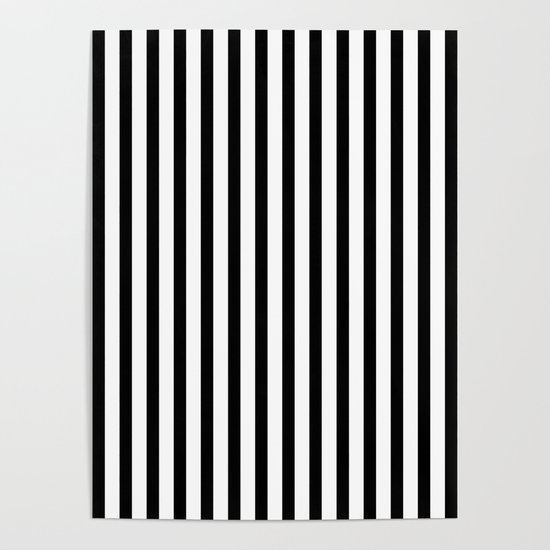 Black & White Small Vertical Stripes - Mix & Match with Simplicity of Life by simplicity_of_live