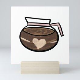 Coffee Pot Cute Coffee Dates for Coffee Lovers Cute Coffee Pot Cafetiere I Love Coffee Latte Mini Art Print