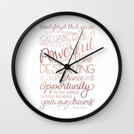 Pursue Your Dreams - Rose Gold Wall Clock