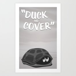 Duck and Cover Vintage Atomic Poster Art Print