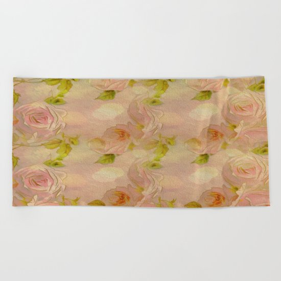 Secret Rose Garden Beach Towel