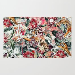 Tigers and Flowers Rug