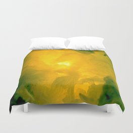 Textures (Yellow version) Duvet Cover