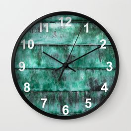 Glazed water flow Wall Clock