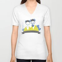 cook V-neck T-shirts featuring Let's cook by Paula García