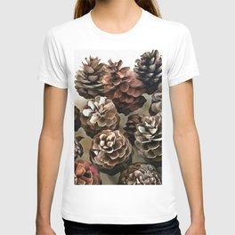 Pine Cones Organic Christmas Ornaments T-shirt