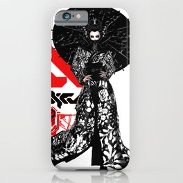 Japanese Illustration Fine Art Cyberpunk Vaporwave Style  iPhone Case