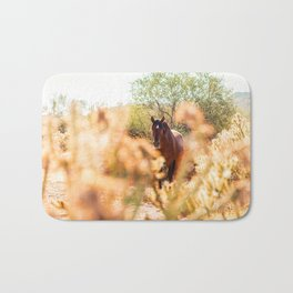 Wild Horse and Cholla Bath Mat