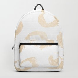 Luxe Gold City Dot Circles Backpack