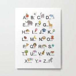 Alphabet for children Metal Print