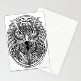 Ornate Owl Stationery Cards