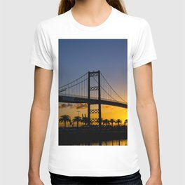 Where man and sky meet in the morning T-shirt