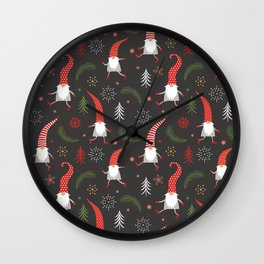 Cute Christmas Elves Wall Clock