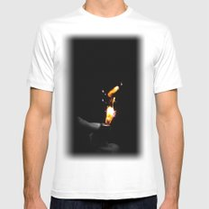 spark SMALL Mens Fitted Tee White