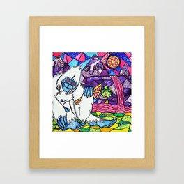 Yeti Love Pink Lemonade Framed Art Print