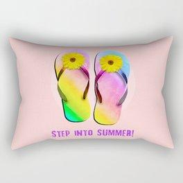 Step into Summer! Rectangular Pillow