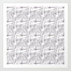 Lady Fleur Fingers  Art Print
