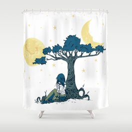 Wonder Girl Fantasy Art Shower Curtain