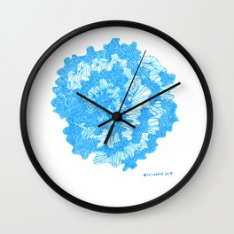 March's Blue 2  | Artline Drawing Pens Sketch Wall Clock