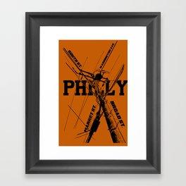 Philly Utility Framed Art Print
