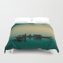 Junk ship Chinese Boat Duvet Cover