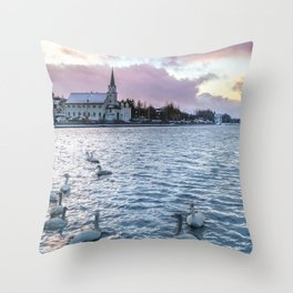 Afternoon Sunrise Throw Pillow