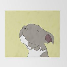 Sunny The Pitbull Puppy Throw Blanket