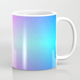 Purple, Pink, Blue and White Ombre flame pattern Coffee Mug