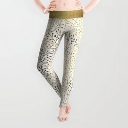 Gold Berry Branches Leggings