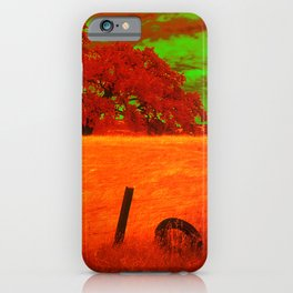 Sci-Fi Alien Countryside iPhone Case