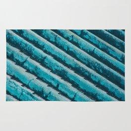 AQUA BLUE ROOF TILES Rug