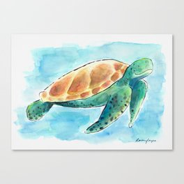 Sea Turtle Waterolour Canvas Print