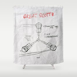 Great Scott, It's a Flux Capacitor - Back to The Future Shower Curtain