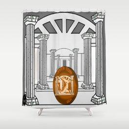 Necropolis Coin Copper 3 Shower Curtain