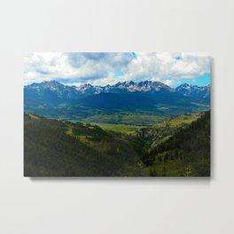 Gore Range with ranches below Metal Print