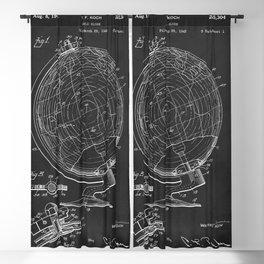 World Globe 1944 Patent Print Blackout Curtain