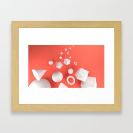 Red Shapes Framed Art Print
