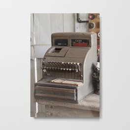 Old Cash Register Metal Print