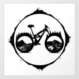 Enduro Yety Art Print