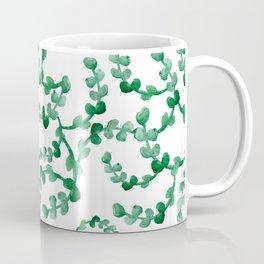 Lovely watercolour leaves pattern - beautiful greenery Coffee Mug